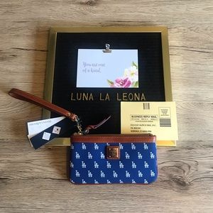 NWT Dooney & Bourke MLB LA Dodgers Small Wristlet